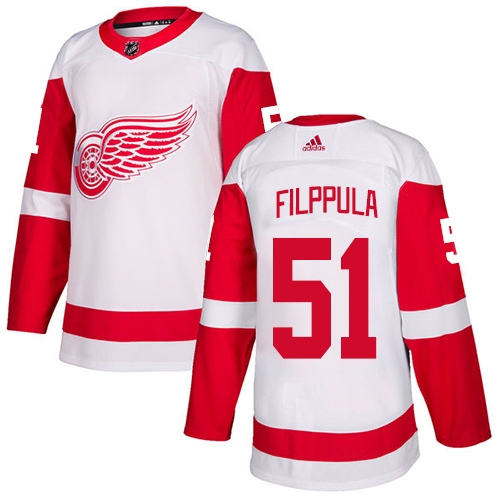 Adidas Red Wings #51 Valtteri Filppula White Road Authentic Stitched Youth NHL Jersey