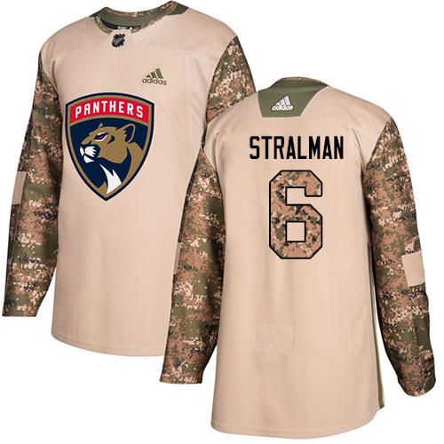 Adidas Panthers #6 Anton Stralman Camo Authentic 2017 Veterans Day Stitched Youth NHL Jersey