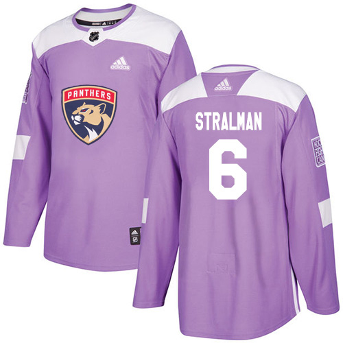 Adidas Panthers #6 Anton Stralman Purple Authentic Fights Cancer Stitched Youth NHL Jersey