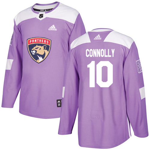 Adidas Panthers #10 Brett Connolly Purple Authentic Fights Cancer Stitched Youth NHL Jersey