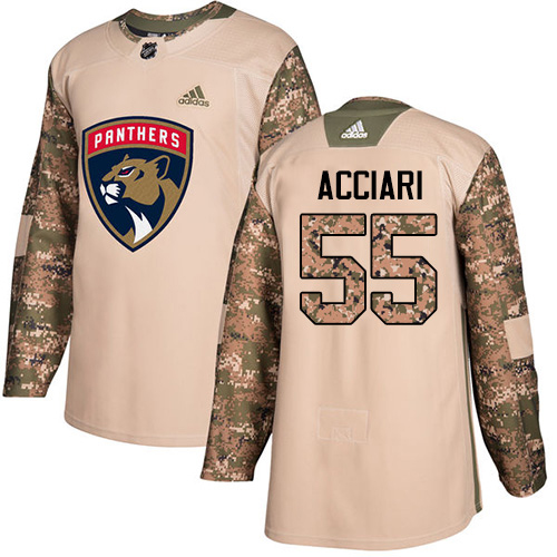 Adidas Panthers #55 Noel Acciari Camo Authentic 2017 Veterans Day Stitched Youth NHL Jersey