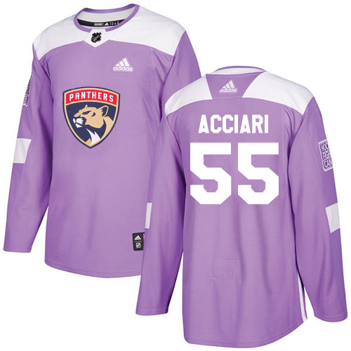 Adidas Panthers #55 Noel Acciari Purple Authentic Fights Cancer Stitched Youth NHL Jersey