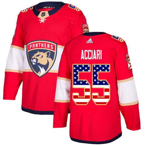 Adidas Panthers #55 Noel Acciari Red Home Authentic USA Flag Stitched Youth NHL Jersey