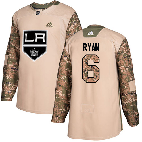 Adidas Kings #6 Joakim Ryan Camo Authentic 2017 Veterans Day Stitched Youth NHL Jersey