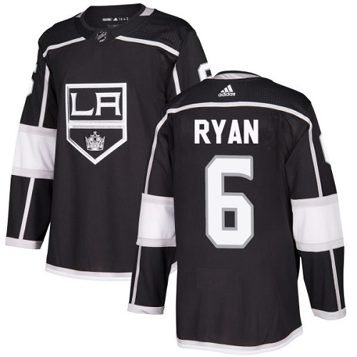 Adidas Kings #6 Joakim Ryan Black Home Authentic Stitched Youth NHL Jersey