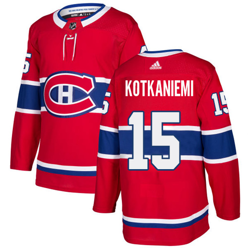 Adidas Canadiens #15 Jesperi Kotkaniemi Red Home Authentic Stitched Youth NHL Jersey
