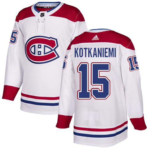Adidas Canadiens #15 Jesperi Kotkaniemi White Authentic Stitched Youth NHL Jersey