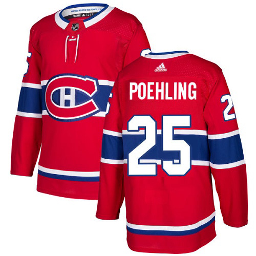 Adidas Canadiens #25 Ryan Poehling Red Home Authentic Stitched Youth NHL Jersey
