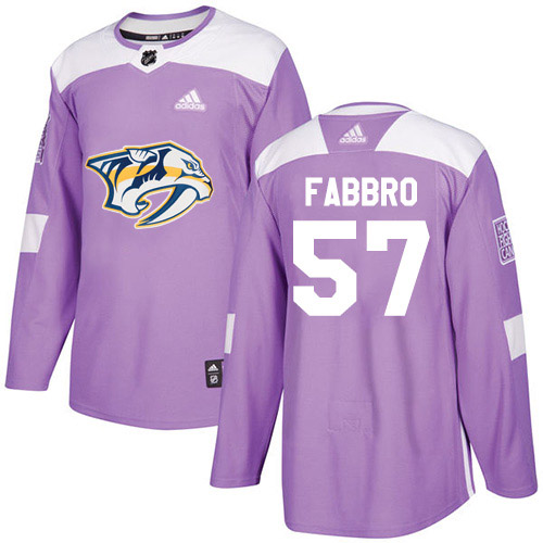 Adidas Predators #57 Dante Fabbro Purple Authentic Fights Cancer Stitched Youth NHL Jersey