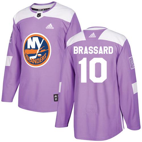 Adidas Islanders #10 Derek Brassard Purple Authentic Fights Cancer Stitched Youth NHL Jersey