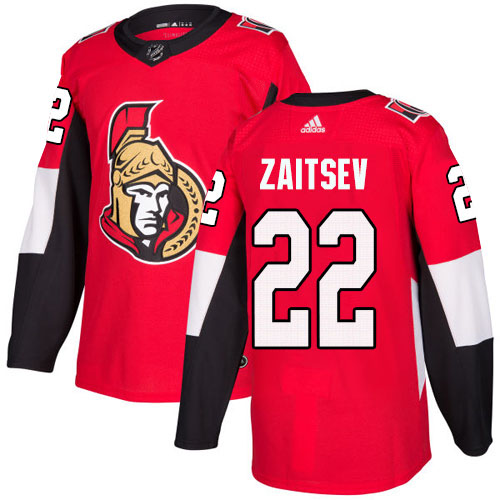 Adidas Senators #22 Nikita Zaitsev Red Home Authentic Stitched Youth NHL Jersey