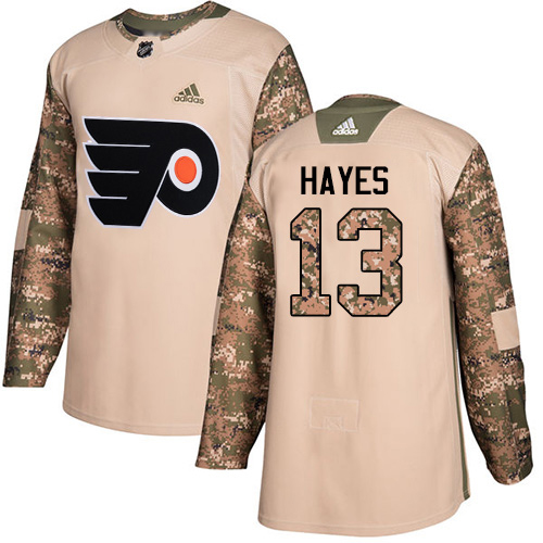 Adidas Flyers #13 Kevin Hayes Camo Authentic 2017 Veterans Day Stitched Youth NHL Jersey