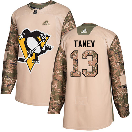 Adidas Penguins #13 Brandon Tanev Camo Authentic 2017 Veterans Day Stitched Youth NHL Jersey