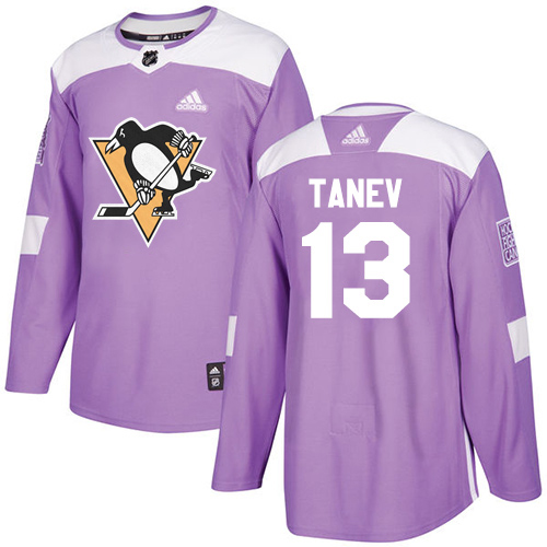 Adidas Penguins #13 Brandon Tanev Purple Authentic Fights Cancer Stitched Youth NHL Jersey