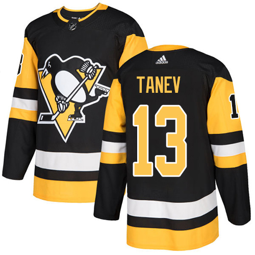 Adidas Penguins #13 Brandon Tanev Black Home Authentic Stitched Youth NHL Jersey