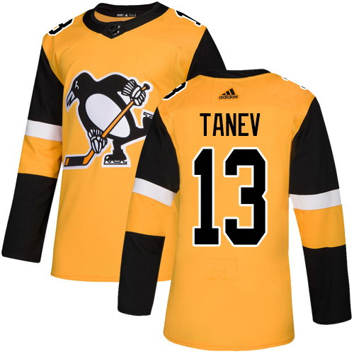 Adidas Penguins #13 Brandon Tanev Gold Alternate Authentic Stitched Youth NHL Jersey