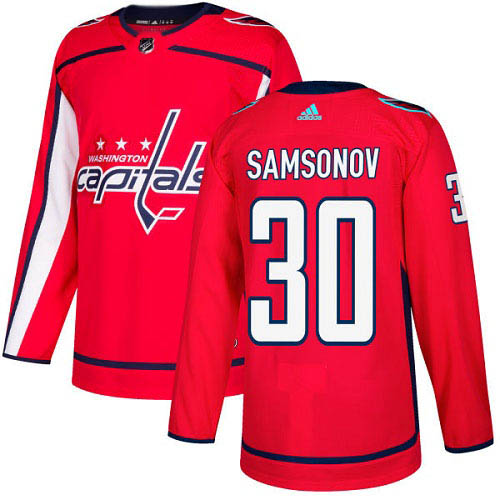 Adidas Capitals #30 Ilya Samsonov Red Home Authentic Stitched Youth NHL Jersey