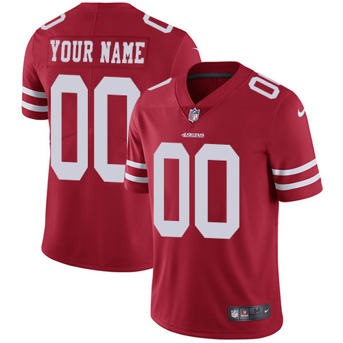 Nike San Francisco 49ers Customized Red Stitched Vapor Untouchable Limited Youth NFL Jersey
