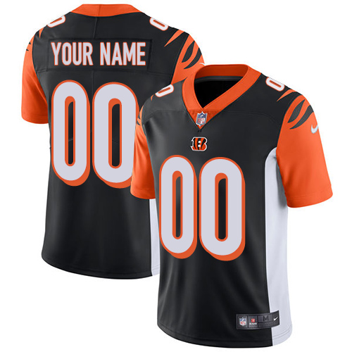 Nike Cincinnati Bengals Customized Black Team Color Stitched Vapor Untouchable Limited Youth NFL Jersey