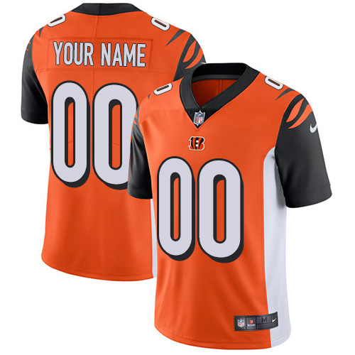 Nike Cincinnati Bengals Customized Orange Alternate Stitched Vapor Untouchable Limited Youth NFL Jersey