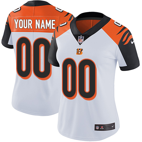 Nike Cincinnati Bengals Customized White Stitched Vapor Untouchable Limited Women's NFL Jersey