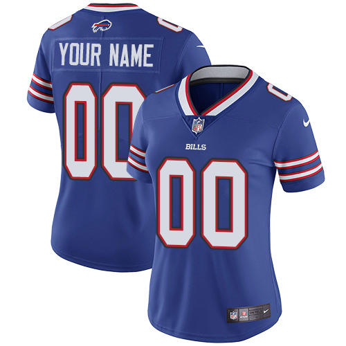 Nike Buffalo Bills Customized Royal Blue Team Color Stitched Vapor Untouchable Limited Women's NFL Jersey