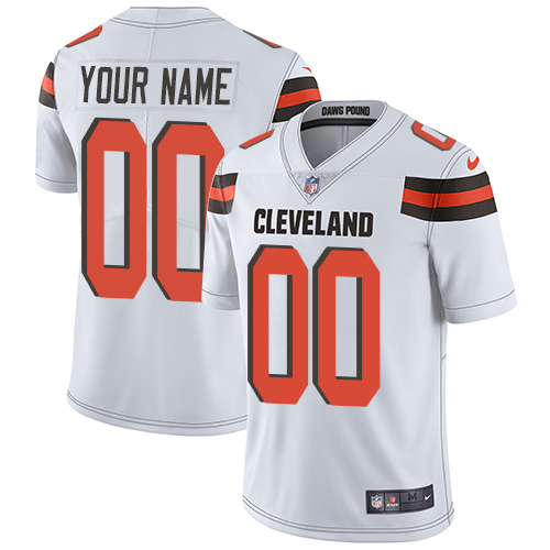 Nike Cleveland Browns Customized White Stitched Vapor Untouchable Limited Youth NFL Jersey