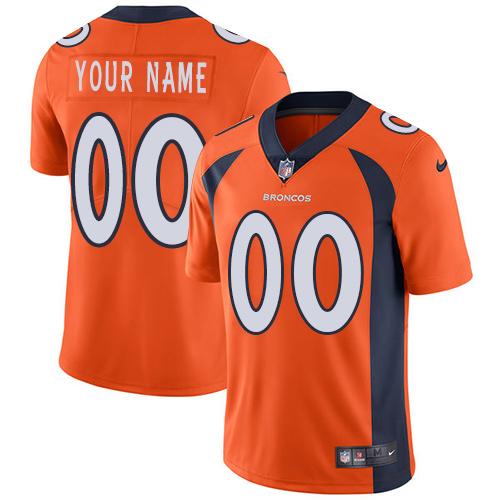 Nike Denver Broncos Customized Orange Team Color Stitched Vapor Untouchable Limited Men's NFL Jersey