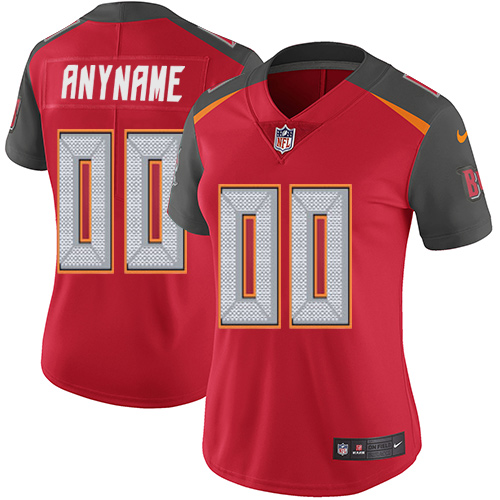 Nike Tampa Bay Buccaneers Customized Red Team Color Stitched Vapor Untouchable Limited Women's NFL Jersey