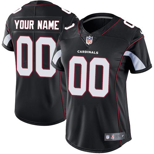 Nike Arizona Cardinals Customized Black Alternate Stitched Vapor Untouchable Limited Women's NFL Jersey