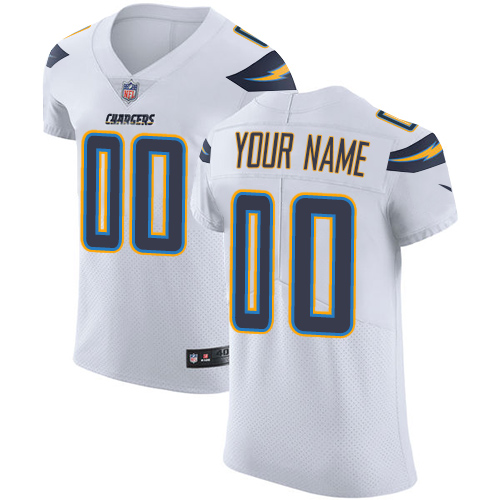 Nike San Diego Chargers Customized White Stitched Vapor Untouchable Elite Men's NFL Jersey
