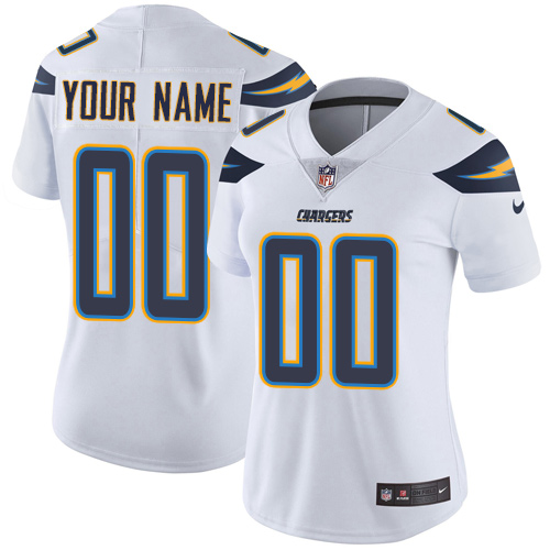Nike San Diego Chargers Customized White Stitched Vapor Untouchable Limited Women's NFL Jersey