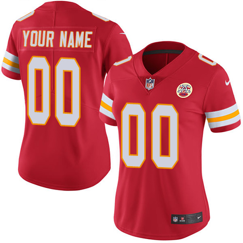 Nike Kansas City Chiefs Customized Red Team Color Stitched Vapor Untouchable Limited Women's NFL Jersey