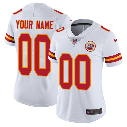 Nike Kansas City Chiefs Customized White Stitched Vapor Untouchable Limited Women's NFL Jersey