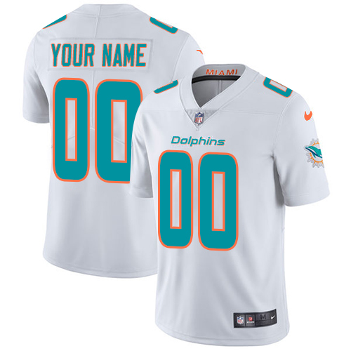 Nike Miami Dolphins Customized White Stitched Vapor Untouchable Limited Youth NFL Jersey