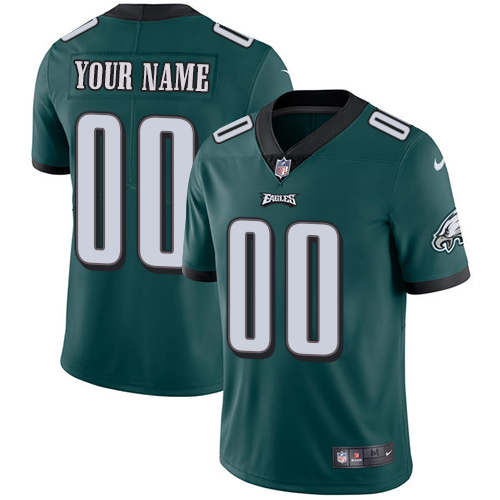 Nike Philadelphia Eagles Customized Midnight Green Team Color Stitched Vapor Untouchable Limited Youth NFL Jersey