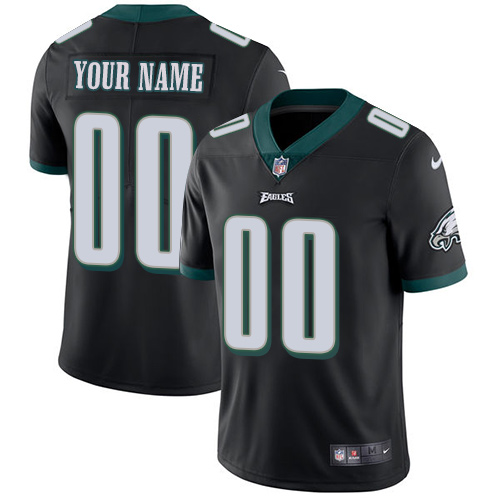 Nike Philadelphia Eagles Customized Black Alternate Stitched Vapor Untouchable Limited Youth NFL Jersey
