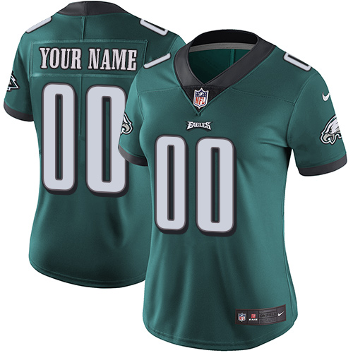Nike Philadelphia Eagles Customized Midnight Green Team Color Stitched Vapor Untouchable Limited Women's NFL Jersey
