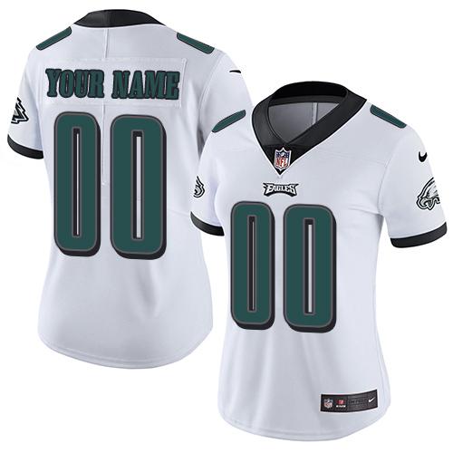 Nike Philadelphia Eagles Customized White Stitched Vapor Untouchable Limited Women's NFL Jersey