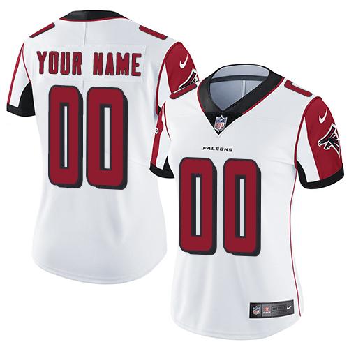 Nike Atlanta Falcons Customized White Stitched Vapor Untouchable Limited Women's NFL Jersey