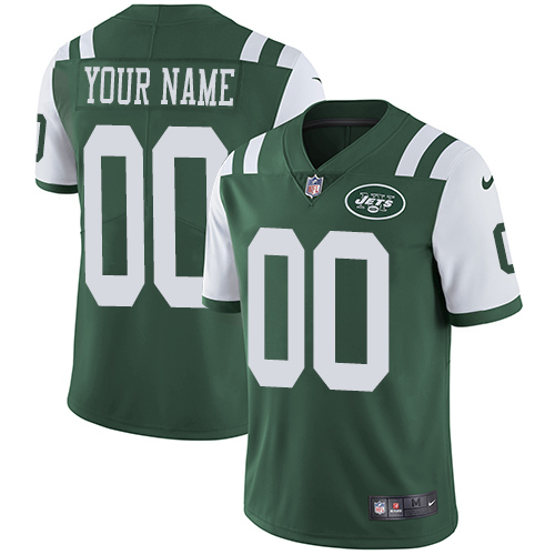 Nike New York Jets Customized Green Team Color Stitched Vapor Untouchable Limited Youth NFL Jersey