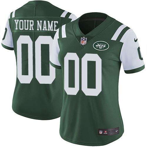 Nike New York Jets Customized Green Team Color Stitched Vapor Untouchable Limited Women's NFL Jersey
