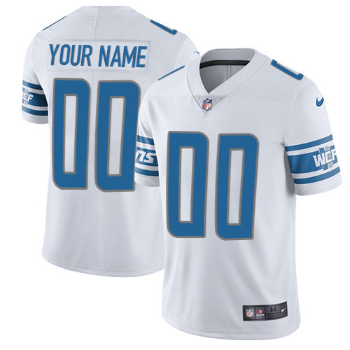 Nike Detroit Lions Customized White Stitched Vapor Untouchable Limited Youth NFL Jersey