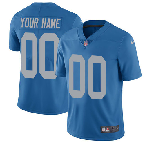 Nike Detroit Lions Customized Blue Alternate Stitched Vapor Untouchable Limited Youth NFL Jersey