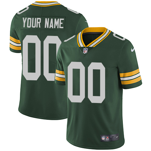 Nike Green Bay Packers Customized Green Team Color Stitched Vapor Untouchable Limited Youth NFL Jersey