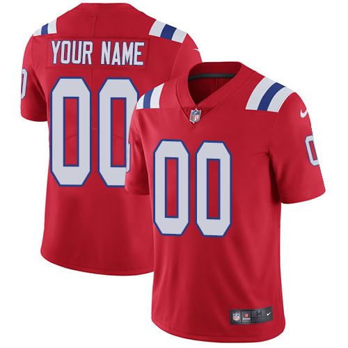Nike New England Patriots Customized Red Alternate Stitched Vapor Untouchable Limited Men's NFL Jersey