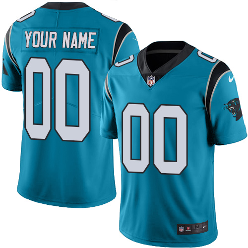 Nike Carolina Panthers Customized Blue Alternate Stitched Vapor Untouchable Limited Men's NFL Jersey