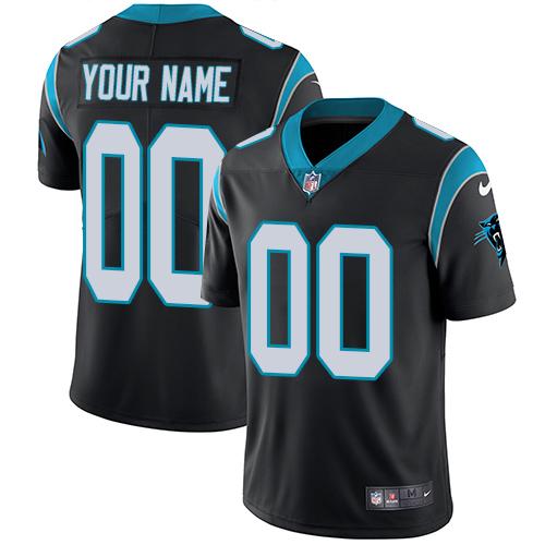 Nike Carolina Panthers Customized Black Team Color Stitched Vapor Untouchable Limited Youth NFL Jersey