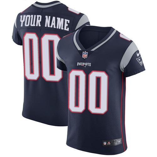 Nike New England Patriots Customized Navy Blue Team Color Stitched Vapor Untouchable Elite Men's NFL Jersey
