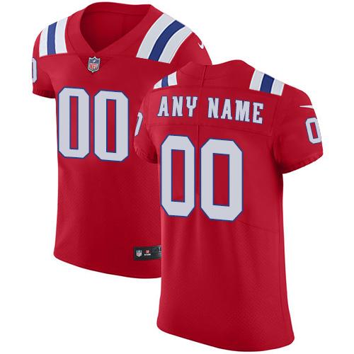Nike New England Patriots Customized Red Alternate Stitched Vapor Untouchable Elite Men's NFL Jersey